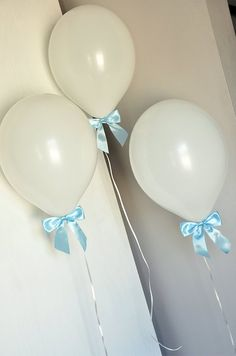 2020 Graduation Ideas Discover Baptism Ideas for Boys. White Balloons with Baby Blue Bows Curling Ribbon. Baptism Ideas for Boys. White Balloons with Baby Blue Bows Curling Ribbon. Baptism Party Decorations, Baptism Centerpieces, Baby Shower, Baptism Reception, Baby Boy Christening, Boy Baptism Party, Baby Dedication, White Balloons, Baptism Ideas