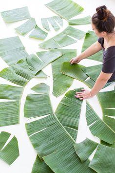 DIY // How to make large scale botanical art prints