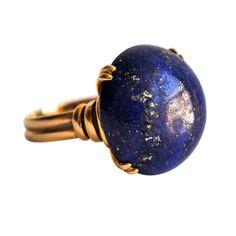 Lapis Lazuli and 18K Gold Ring