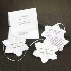 Snowflake invitations
