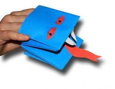 Simple folded paper puppet. :) Jodi from the Clutter-Free Classroom www.CFClassroom.com