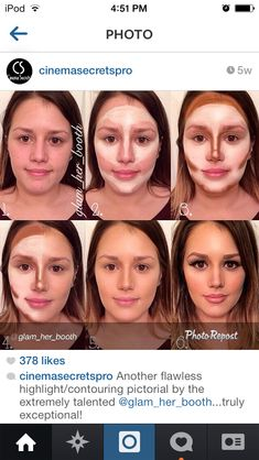 Contouring and highlighting before and after step by step