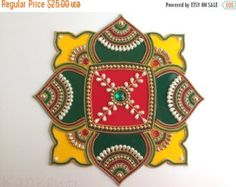 Sale Indian bollywood Rangoli colorful Rangoli by Kalakruti