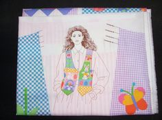 EASTER VEST Spring Bunny Adult Womens Pastels Tulips Vest Fabric Panel Pattern Craft Supply Sewing - pinned by pin4etsy.com