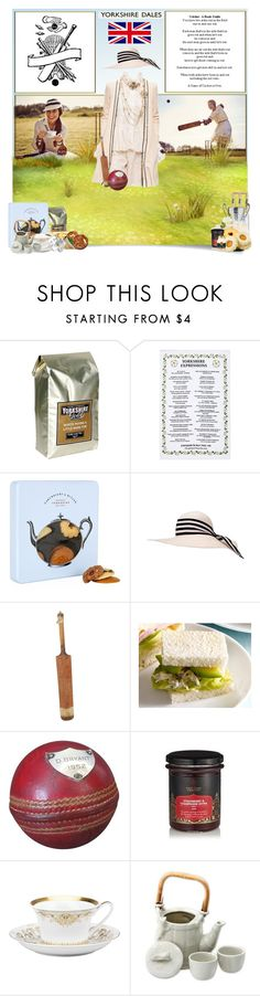 """""""The Game of Cricket"""" by jleigh329 ❤ liked on Polyvore featuring Pippa, Ulster Weavers, Cartwright & Butler, Eugenia Kim, Rosenthal, NOVICA and Paul Frank"""