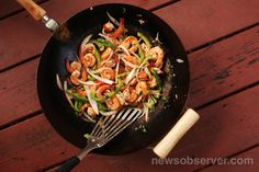 """This Chinese Trinidadian Stir-Fried Shrimp with Rum dish comes from Stir-Frying to the Sky's Edge: The Ultimate Guide to Mastery, With Authentic Recipes and Stories, """" by Grace Young.  Read more here: http://therecipe.nandoweb.net/chinese-trinidadian-stir-fried-shrimp-with-rum/#storylink=cpy"""