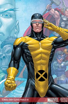 #Cyclops #Fan #Art. (X-MEN: FIRST CLASS FINALS #3 (of 4) Cover) By: ROGER CRUZ.