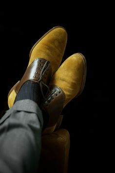 ethandesu: For tweed, denim and flannel Custom Saddle Shoes by Saint Crispin's
