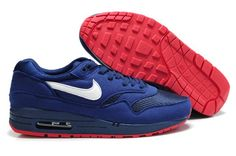 Nike Air Max 87 Mens Dark Blue With Red Sole