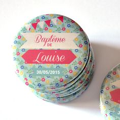 1 Magnet à l'unité Baptême Liberty Fille / Cadeaux invités Naming Ceremony, Daughter Of God, Christening, Baby Shower, Messages, Etsy, Magnet, Birthday, Handmade Gifts