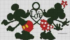 Schema minnie e topolino minnie-mickey and friends kanaviçe, Mickey Mouse Imagenes, Wedding Cross Stitch Patterns, Mickey And Friends, Hama Beads, Cross Stitching, Fictional Characters, Mousse, Art, Wedding Cross Stitch