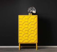 Peaceful Inspiration Ideas Yellow Furniture Bright Swedish Cabinets Collection From Designer Diversos Painted Furniture, Home Furniture, Modern Furniture, Furniture Design, Furniture Storage, Furniture Ideas, Home Storage Cabinets, Yellow Cabinets, Yellow Interior