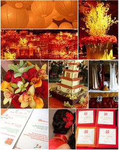 Red and gold chinese theme