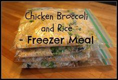 Chicken Broccoli Rice - Freezer Meal
