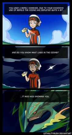 Pokemon ORAS - Hahaha Global Climate change is a huge problem. Even in fictional worlds