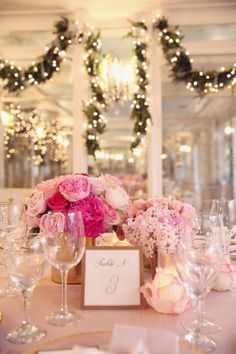Twinkle lights are the perfect way to add a touch of magic to any event! Dear Mila… {A Pretty in Pink Baby Shower}by Melody Melikian Photography