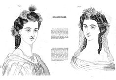 1864 Fashion plate from Godey's Lady's Book
