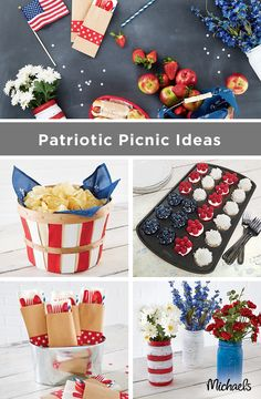 These Patriotic Picnic Ideas are sure to liven up your celebrations from Memorial Day to 4th of July to Labor Day! From brightly colored vases to red, white and blue cupcakes to all the backyard essentials, these ideas are sure to make any picnic pop! Find everything you need at your nearest Michaels and make your summer fun and festive!