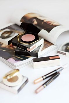 H&M Beauty - Mojave, Fig Figment, Sun Worship Eyeshadow, Sun on Sand and Fairytale Eyeshadow Sticks, Cream Chestnut Lipstick, Cameo Pink, Rosy Brown Blush