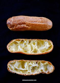 Eclairs, Hot Dog Buns, Biscotti, Macarons, Healthy Snacks, Bread, Cookies, Cake, Desserts