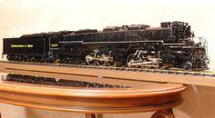 H-8 Allegheny 2-6-6-6  Live-Steem model Length OB: 1,290 mm Width:  104 mm Height:  165 mm Weight:  18.9 kg (Engine 14.2 kg+Tender 4.7 kg)