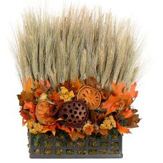 I pinned this Preserved Autumn Sunset Arrangement from the Floral Treasure event at Joss and Main!
