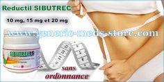 Reductil Sibutrec 10 mg, 15 mg et 20 mg sans ordonnance. Predez votre surpoids avec reductil sibutramine.