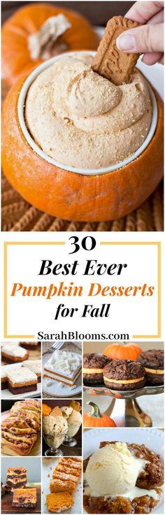 30 Amazingly Delicious Pumpkin Desserts for Fall