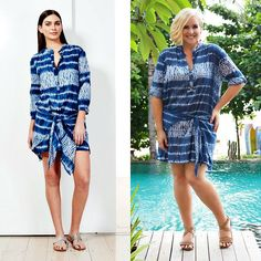 Keep cool this summer in hand-printed Indian cotton. This Read and Bell tunic dress/top will work over a swimsuit or over a pair of skinny jeans.