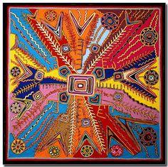 huichol art, Mexico - Lucia-Taisan-yarn-painting