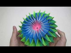 Звезда из бумаги - YouTube