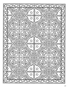 ***Dover Publications - Decorative Tile Designs Coloring Book