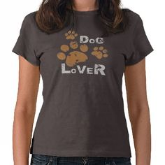 Dog lover t shirt for all men and women... beautiful grunge dog paw print design
