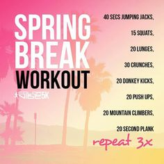 Getting in shape for spring break