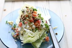 I love a good wedge salad! yum!   Wedge Salad with Smoky Blue Cheese Dressing via Cheeky Kitchen