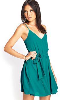 £17.50 Self-Tie Surplice Dress - Dresses - 2000059027 - Forever 21 UK