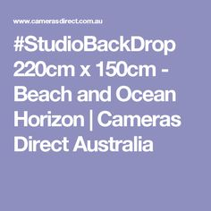 Studio backdrop Tall by wide. Capture that exotic look in your portrait shots from right in the studio Material: Pictorial cloth, seamless, computer-printed for realism Ocean Horizon, Studio Backdrops, Studio Lighting, Portrait Shots, Cameras, Australia, Beach, The Beach, Camera