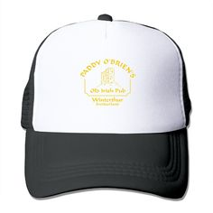 """Adult Paddy O'Brien's Old Irish Pub The Adjustable Snapback Trucker Hat. 100% Nylon Mesh Back Keeps You Cool. 100% Polyester Foam Front. Hand Washing Only. Adjustable From 17"""" To 24"""". Customized Pattern Design,Perfect As A Gift,High Quality And Environmentally Friendly Printed."""