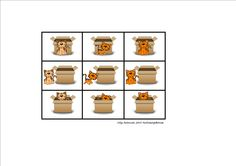 Tiles for the preposition and cat matrix. By Autismespektrum.