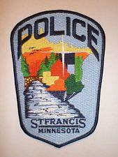 Minnesota St Francis police patch