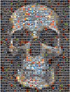Skull Heart Collage by Brooke Politzer