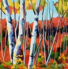 oil painting of Birch trees by Jenn Hallgren, Philadelphia Artist Birch Forest, Birch Trees, Philadelphia, Oil On Canvas, Artist, Painting, Artists, Painting Art, Paintings