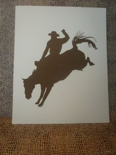 Cowboy Silhouette  Collection by SouthernRaineDesign on Etsy, $19.99