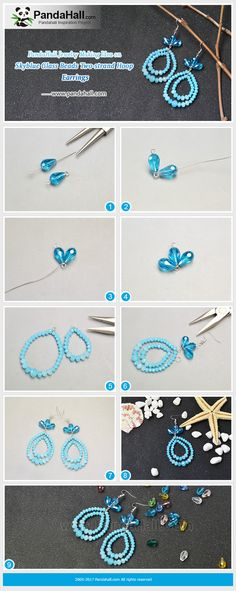 #PandaHall Inspiration Project---#Skyblue #GlassBeads Two-strand #HoopEarrings. #freetutorial #howto #diyearrings PandaHall Beads App, download here>>>goo.gl/RAEuuP Free Coupons: PHENPIN5 (Save $5 for $70+) PHENPIN7(Save $7 for $100+) PandaHall Spring Promotion: UP TO 75% OFF, free Shipping over $349 from Feb.27-Mar.20,2018. Check here>>>goo.gl/YG9LPa