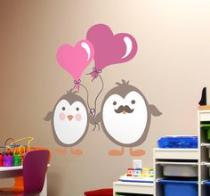 Tell your children how much you love them! Decorate their room with love! #decoration #wallart #DIY #love #penguin #animals #children #kids #wallart #homedecor