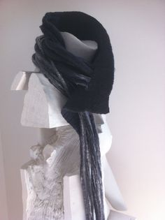 Items similar to Made to Order: Cowl Scarf Lariat in Charcoal grey winter jewelry, warm stylish merino wool necklace scarf, chunky cowl neck warmer w fringes on Etsy Cowl Scarf, Cowl Neck, Felted Scarf, Fringes, Neck Warmer, Grey And White, Merino Wool, Charcoal, Cowls
