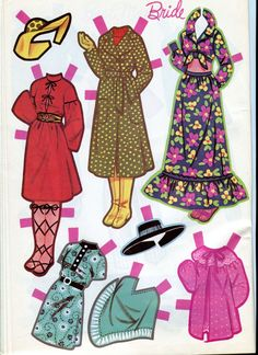 1971 Here Comes the Bride Paper Dolls by Lowe