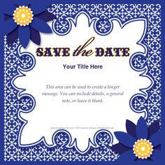 Royal Blue Save the Date by HoneyBops on pingg $10