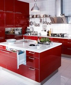 ...IKEA's red kitchen