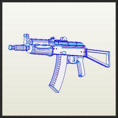 AKS-74 Assault Rifle Free Gun Paper Model Download - http://www.papercraftsquare.com/aks-74-assault-rifle-free-gun-paper-model-download.html